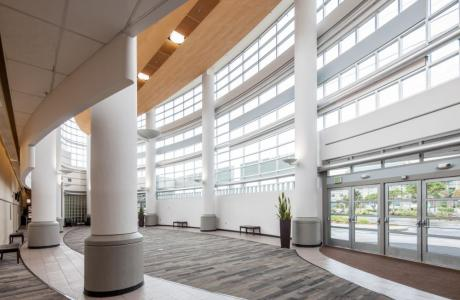 Main lobby with natural lighting