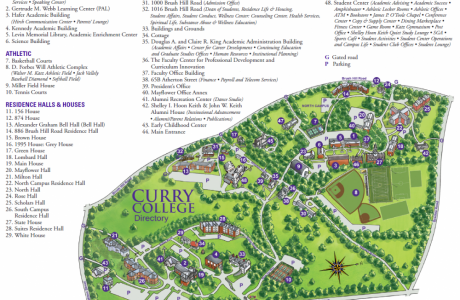 Curry College Map