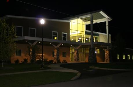 Ministry Center at Night