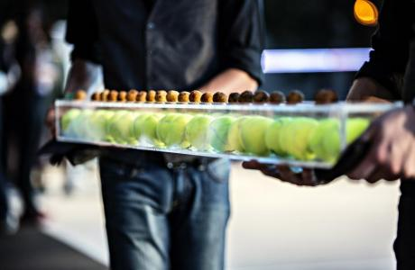 Creative, Branded Catering Presentation