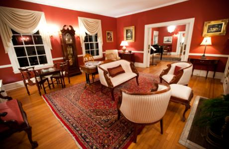 The Parlor is another charming option for meeting space or just socializing
