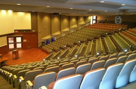 Fanshawe College's larges lecture theatre with a capacity of 346 people