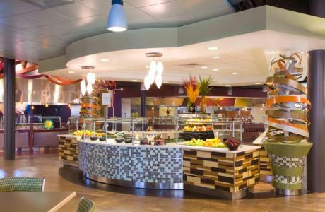 Marche style dining centers -sizzling salad bar