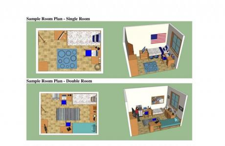 Sample Single and Double Floor Plans