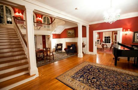 The Grand Foyer is spacious and inviting
