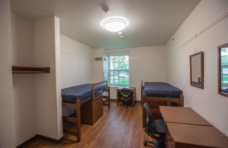 Dorsey Hall - newly renovated residence hall - bedroom