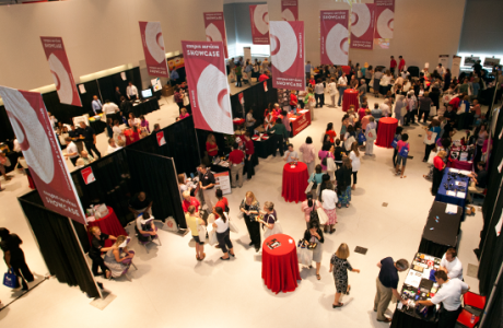 TUC's Great Hall, shown exhibit space-style