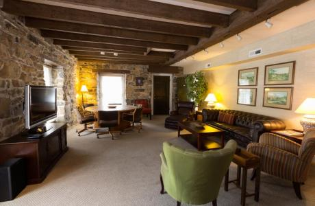 Relax in the Stone House Lounge