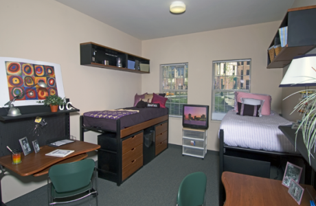 Conference housing at UC offers suite-style or traditional overnight accommodations...