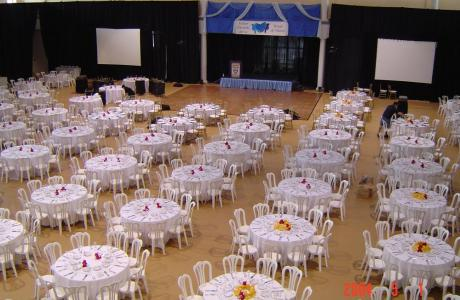Gym with banquet seating