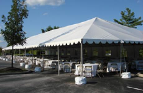 Tent set up at our Conference Center