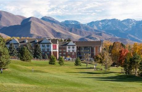 University Guest House & Conference Center. Beautiful setting at the foot of the Rocky Mountains.