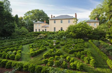 Sweeping view of formal gardens at Historic Tudor Place by Ron Blunt