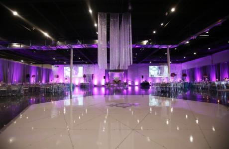 Our 20,000 sq. ft versatile space transformed for an elegant social event
