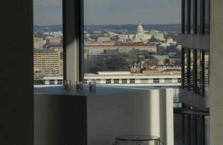 Dramatic views of Downtown DC to captive your guests