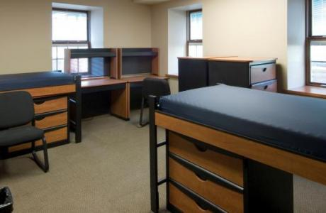 Wayland Hall is newly rennovated with suite style rooms and shared baths.