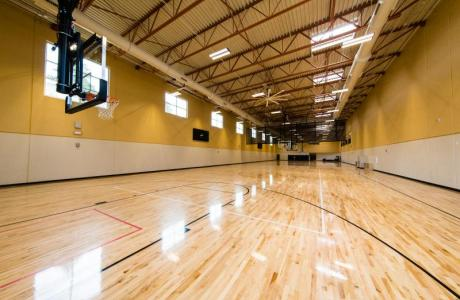 Back-to-Back Basketball Courts