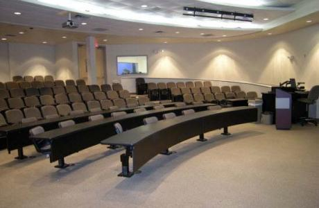 Auditorium classrooms available, seating up to 150 guests