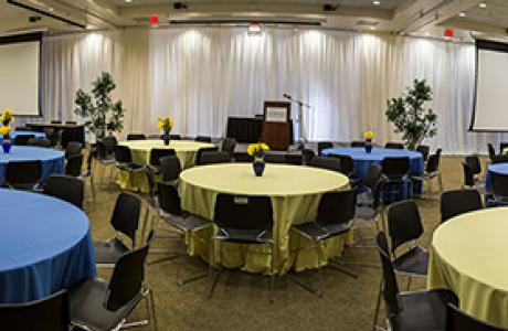 Elegant Blue & Gold Commencement Event Package
