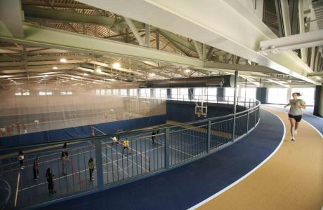 Wise Center indoor track overlooks 4 short courts