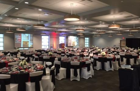 Carlson Commons banquet style, located in our Student Center