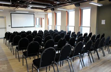 Large conference room set theater-style