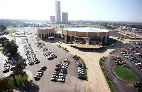 The Mabee Center can accommodate over 10,000 persons for general sessions
