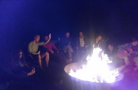 Chill by the fire at night while watching the stars