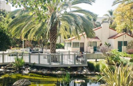 SDSU's Scripps Cottage Patio and Koi Pond