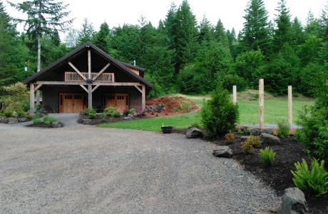 Straw bale lodge and amphitheater at Vernonia Springs