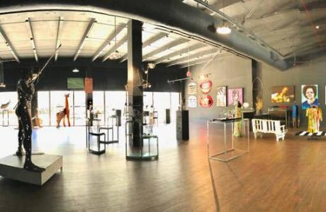 Panoramic view of indoor space for events