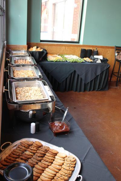 Buffet set up for private event in St. Louis