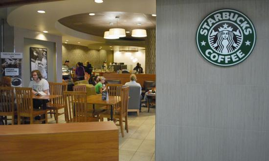 Starbucks is conveniently located inside the University Center