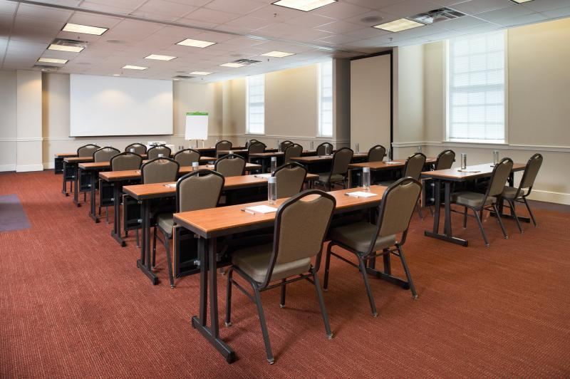 Let us set the rooms in your preferred style- pictured is classroom style.