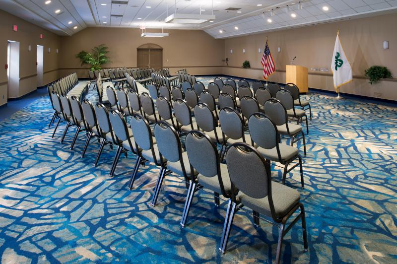 Let us set the rooms in your preferred style pictured is chevron theater style.