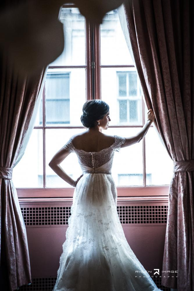 Bride Posing in the Lounge