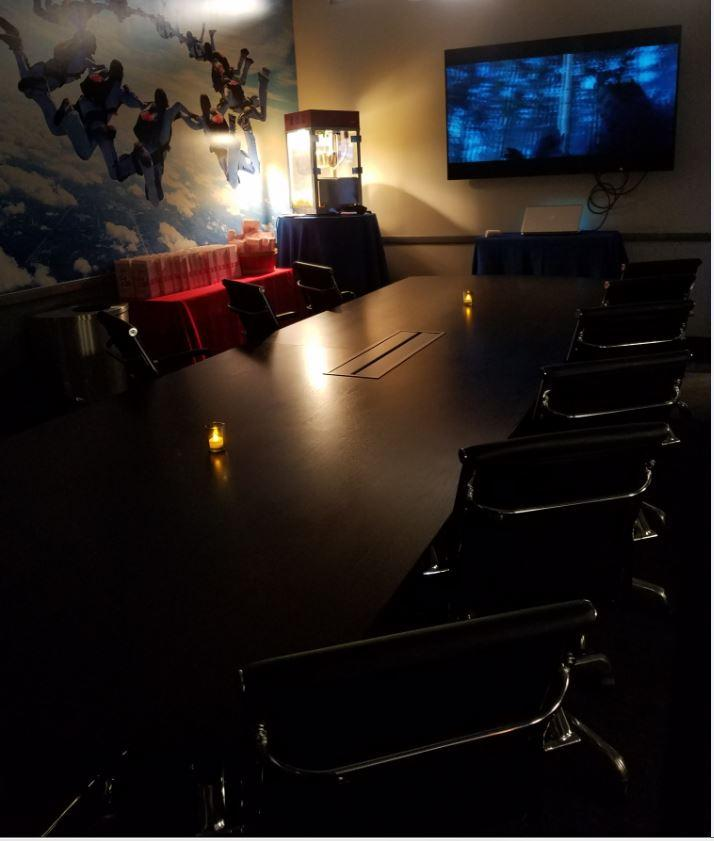 Movie Room during a Full Building Buy Out