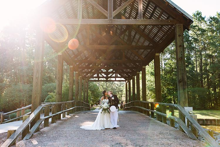 River Landing. Covered Bridge, Outdoor Weddings