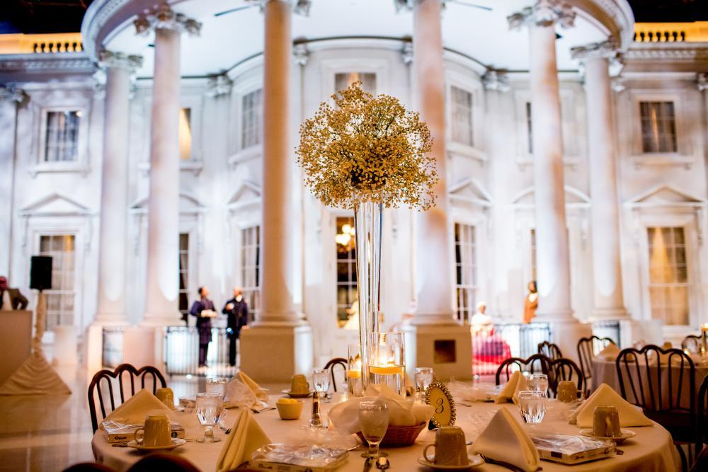 The Museum Plaza, a wonderful site throughout the year for receptions and dinners celebrating weddings. (Photo by Willow Lane Photography)