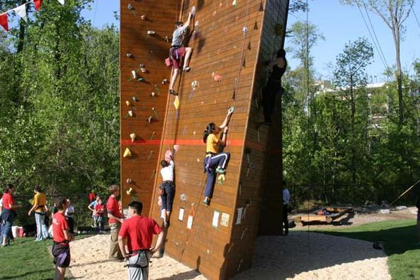 climbing wall at Campus Recreation Center
