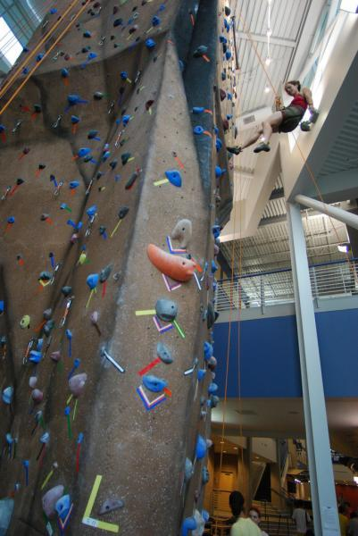 Recreation Center Climbing Wall