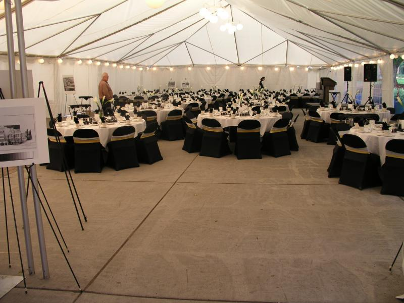 Reception using 40' x 60' canopy