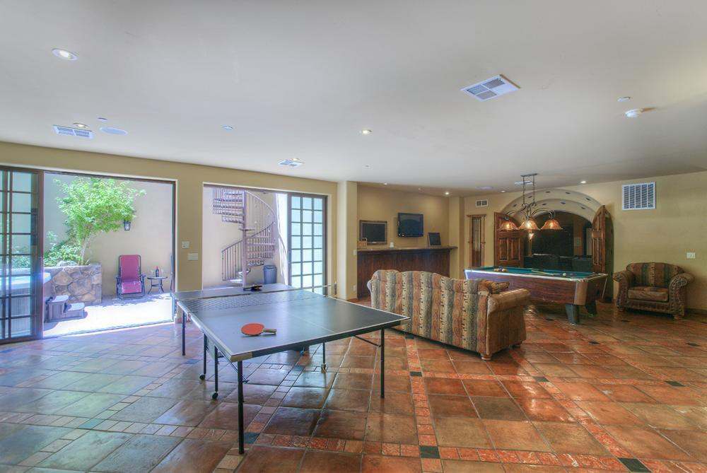 Large Game Room Includes Ping Pong Table