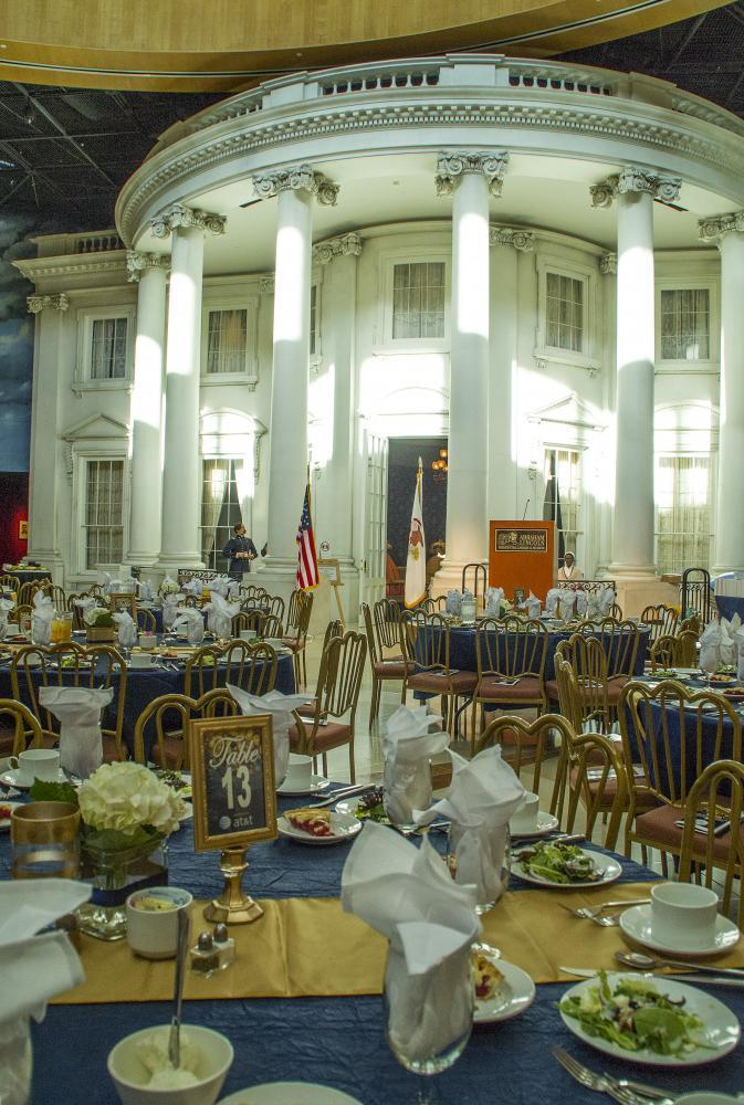 An association awards gala in the Museum Plaza.