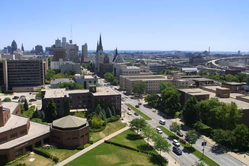 Marquette University is situated within blocks of Downtown Milwaukee and the shores of Lake Michigan.