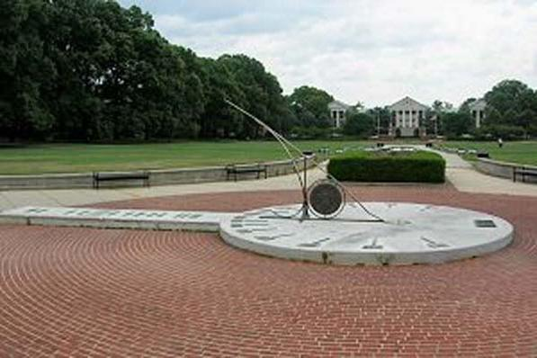 Sun Dial on McKeldin mall
