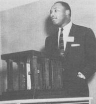 Dr. Martin Luther King spoke here in 1956