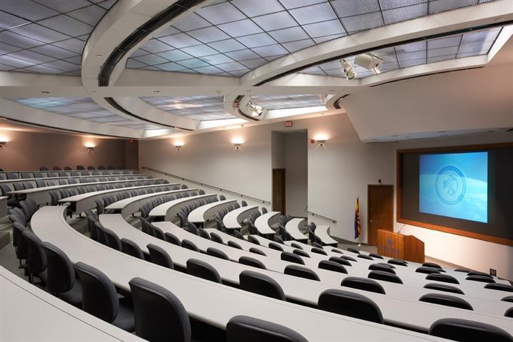 Our seven versatile auditoriums offer varying capacities; the largest is the amp