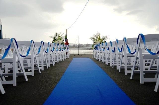 Aqua Azul Outdoor Wedding Ceremony Deck Overlooking the Hudson Harbor