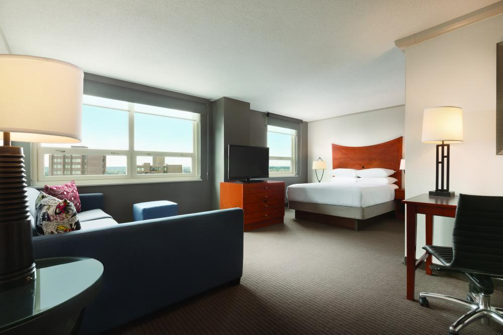 Suite Accommodations -  Embassy Suites by Hilton, Attached to The Grand.